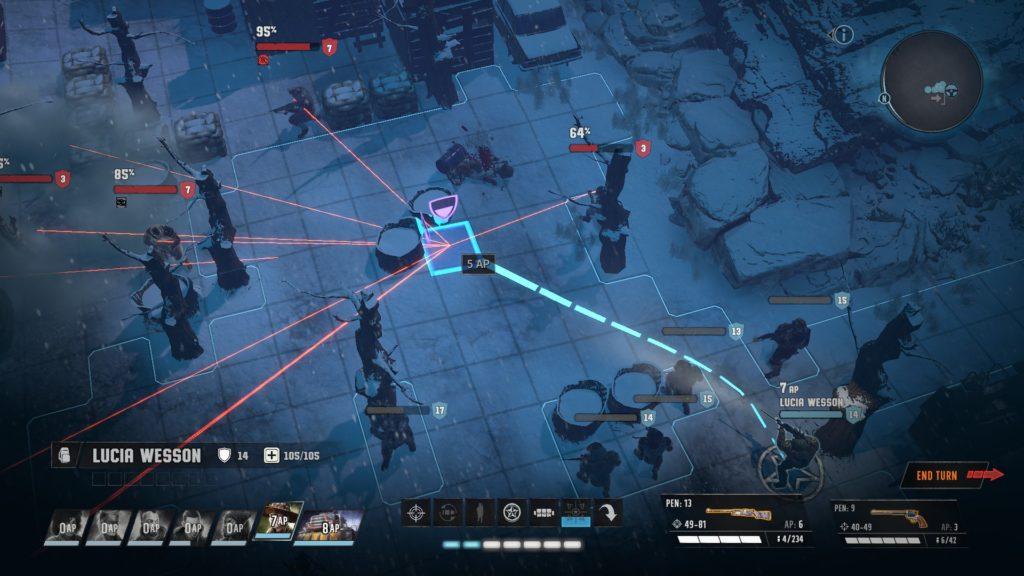 Vue d'une séquence de combat