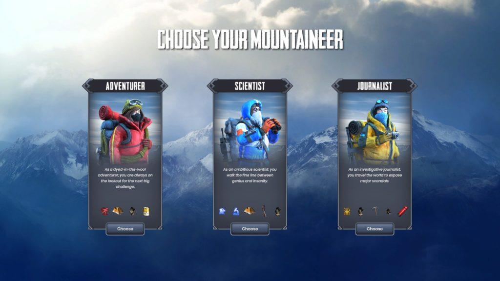 Choix de l'alpiniste