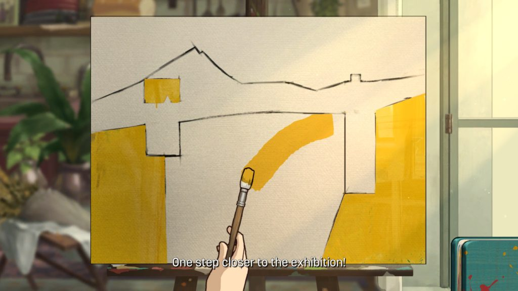 séance de peinture