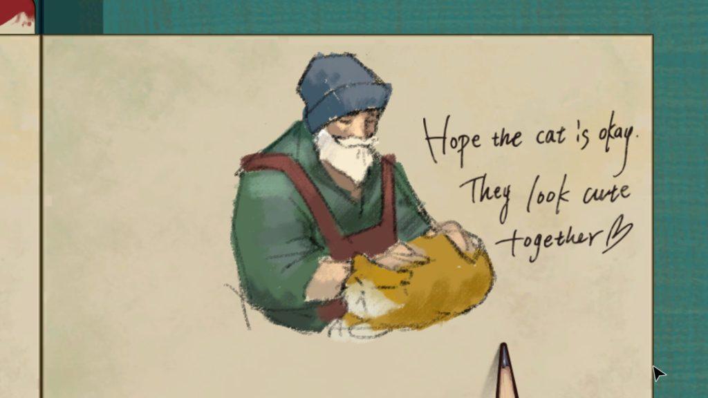Le vieil homme et son chat