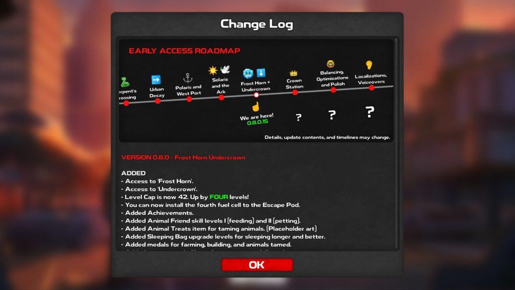 Roadmap de l'EA